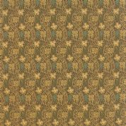 Moda Morris Earthly Paradise by Barbara Brackman - 4766 -Grape Vine, Leaf Print in Antique Gold on Brown - 8335 13 - Cotton Fabric